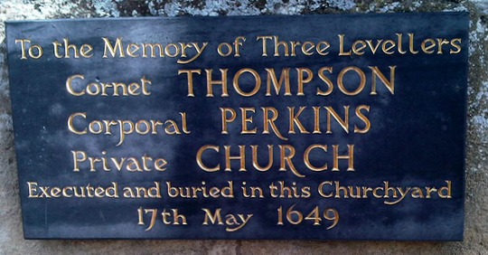 Levellers plaque